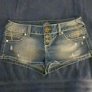 Stone washed Jean shorts